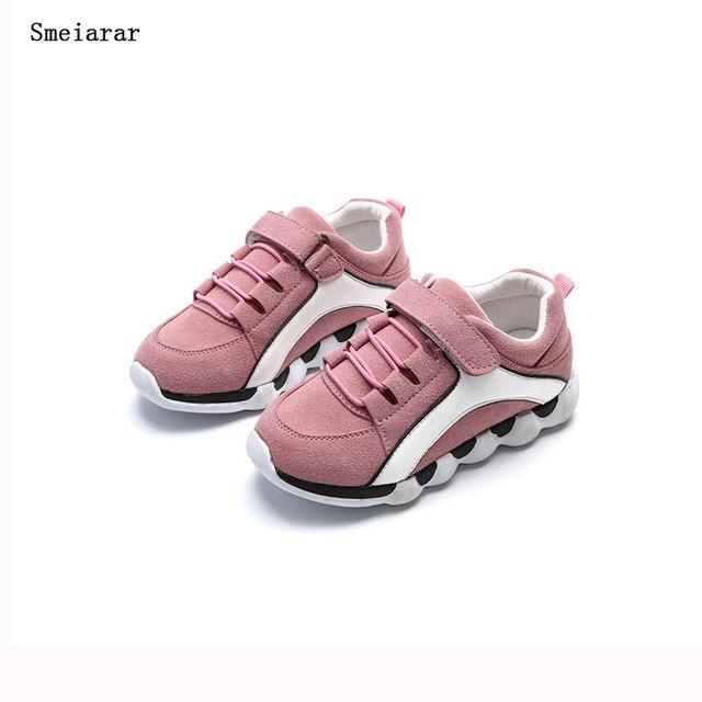 3580f06625c Smeiarar Children Sneakers Kids Shoes For Girls Tenis Infantil Boys  Chaussure Enfant Menino Spring Summer Cute Sneaker Lace Shoe