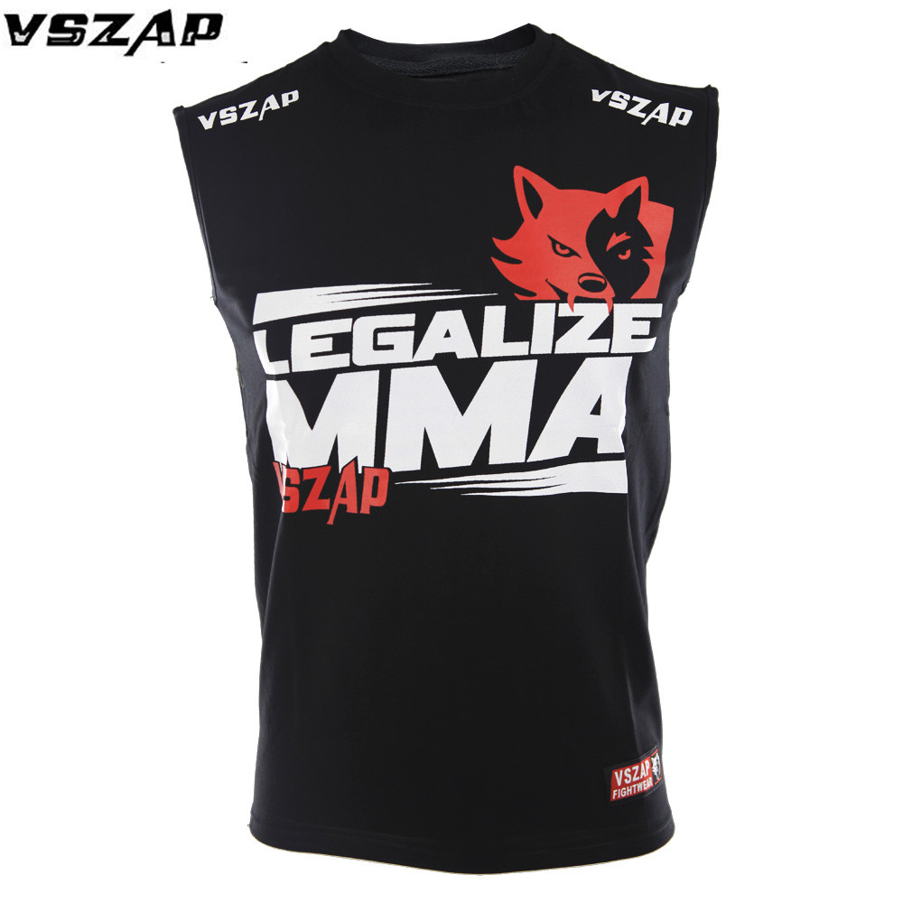 VSZAP Boxing Top Tank For Men MMA Muay Thai Sleevless Gym Sports Top-tees Practice T-shirt Kick Kickboxing Vest Boxing Jerseys