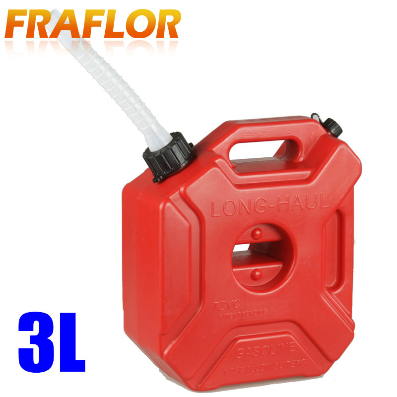 3L Spare Fuel Tank Plastic Jerry Can Diesel Gasoline Tank Container