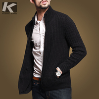 Free Shipping Mens Brief Vintage Knitting Zipper Sweater 16807