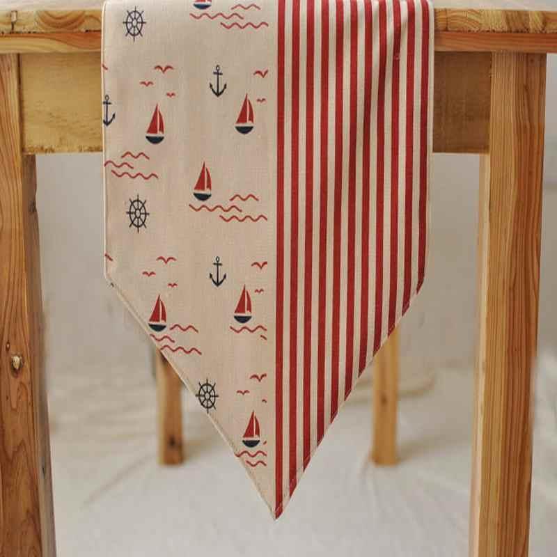 Средиземноморский Ветер хлопок, лен, настольные бегун скатерть для ресторана кафе дома украшения 1 шт. цена 3 цвета Бесплатная доставка
