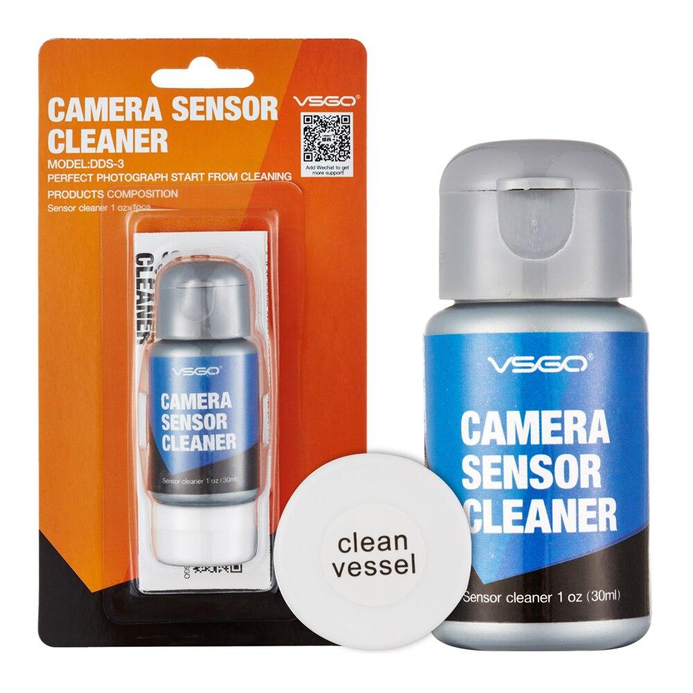 Profissional vsgo DDS-3 dslr câmera sensor líquido de limpeza 30ml pacote câmera sensor kit de limpeza com navio limpo.