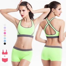 1 set women sports bra underwear training running swim cross back padded sports bra set for.jpg 250x250