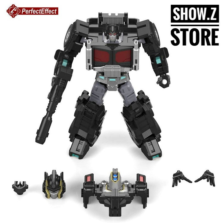 [Show.Z Store] PerfectEffect PE PC-20 Perfect Combiner Black Jinrai OP Upgrade Kit Transformation Action Figure managing the store