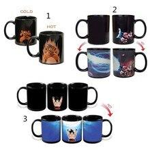 Neue Goku Dragon Ball Z Becher Farbwechsel Magische Becher wärmeempfindlichen Reaktiven Tee Kaffee Keramik-tasse 3 stile
