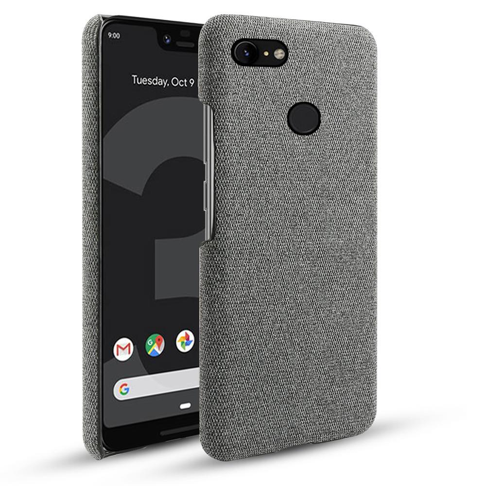 For Google Pixel 3 3 XL 2 XL Case Slim Retro Woven Fabric Cloth Anti-scratch PC Hard Cover For Google Pixel 3A 3A XL 4 4 XL Case