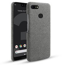 For Google Pixel 3 3 XL 2 XL Case Slim Retro Woven Fabric Cloth Anti-scratch PC Hard Cover For Google Pixel 3A 3A XL 4 4 XL Case все цены