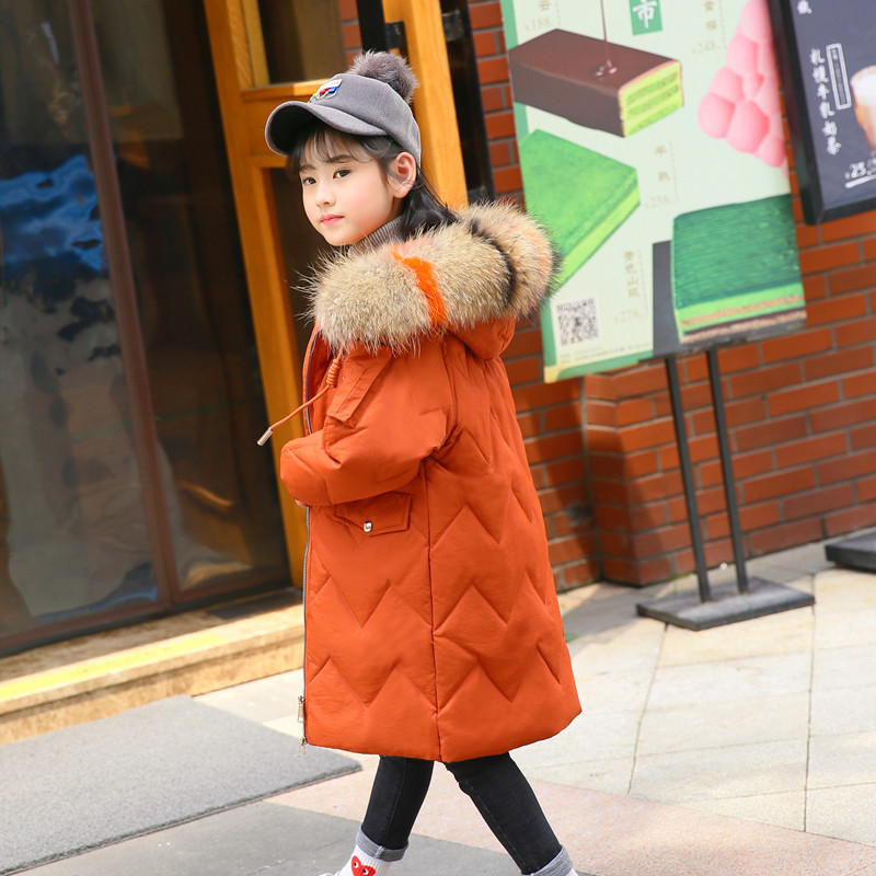 2018 New Winter Coats for Girls Kids Down Jackets Children Outfit Girls Clothing Kids Long Down Hooded Outerwear Coat 5-12 Years 2018 new winter coats for girls jacket hooded kids outerwear thick warm children down long jackets for girls coat 10 12 14 years