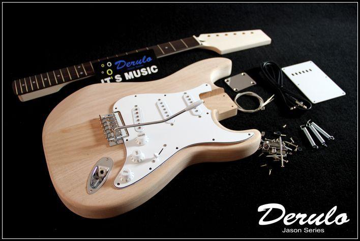 DIY Electric Guitar Kit  Bolt-On  Bass Wood  Dot Inlay  Unfinished MX-015DIY Electric Guitar Kit  Bolt-On  Bass Wood  Dot Inlay  Unfinished MX-015