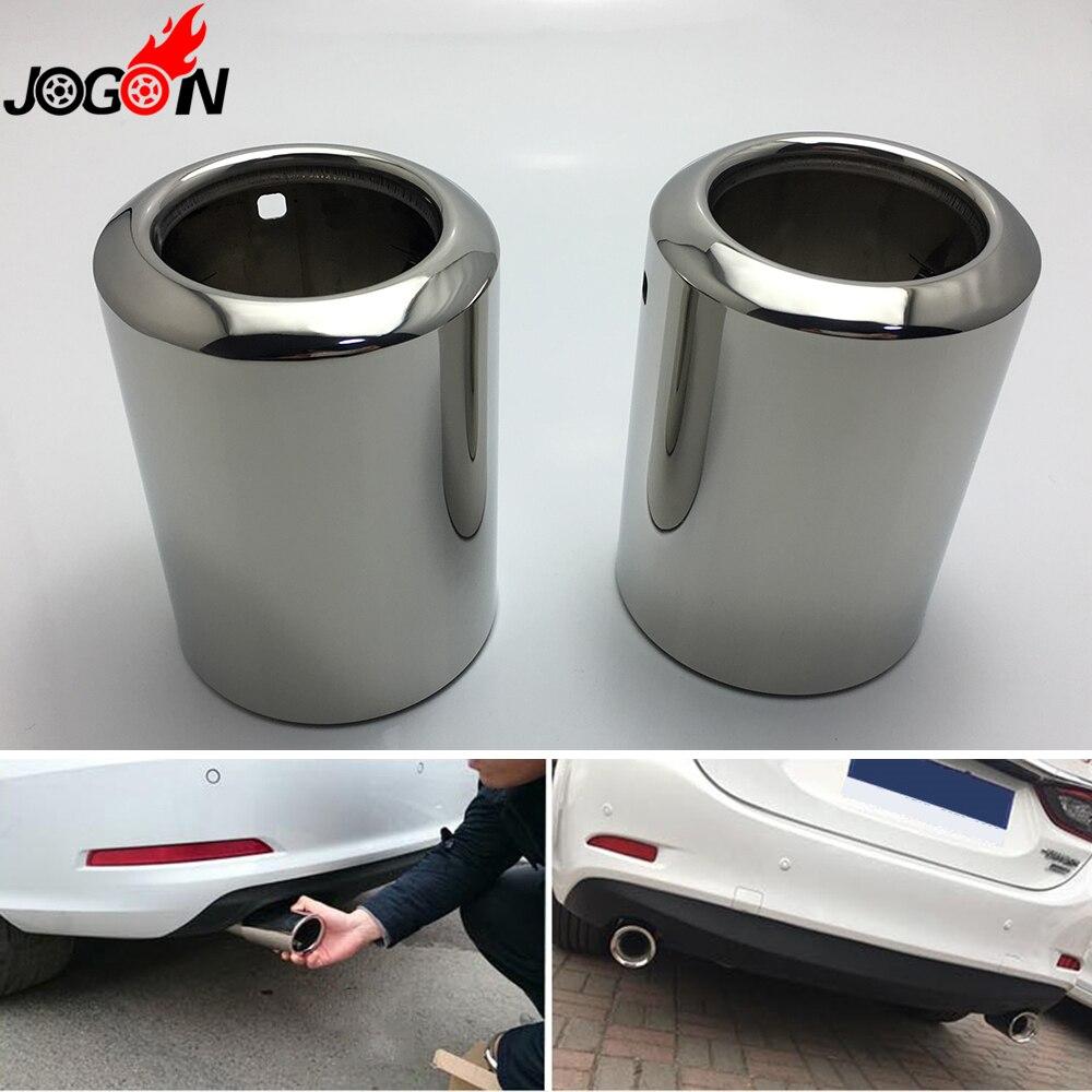 Couvercle d'extrémité pour Mazda 3 6 Atenza Axela CX-3 2016 2017 2018 CX-5 tuyau d'échappement arrière en acier inoxydable