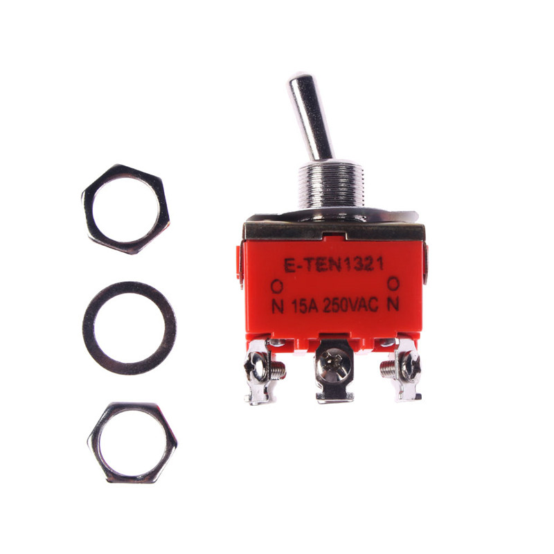 DPDT ON//ON 2 Positions 6 Screw Terminal Toggle Switch AC 250V 15A LW
