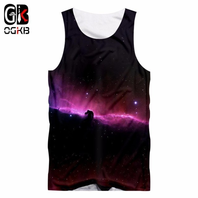 df121b4d8faa9 OGKB 2008 Summer Cool Vestido Men women Galaxy Space Printed 3D Tank top  Men Clothing Singlet Unisex Sleeveless tanktop 5XL