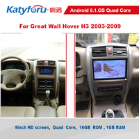 Android car radio for great wall hover h3 2003 2009 with gps wifi free rear view camera 9inch screen 1024x600 h3 2din radio