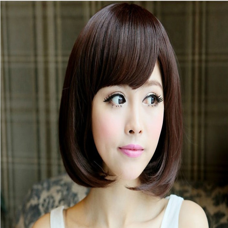 3 01tophere Wig Female Round Face Short Hair Pear Head Length Curly