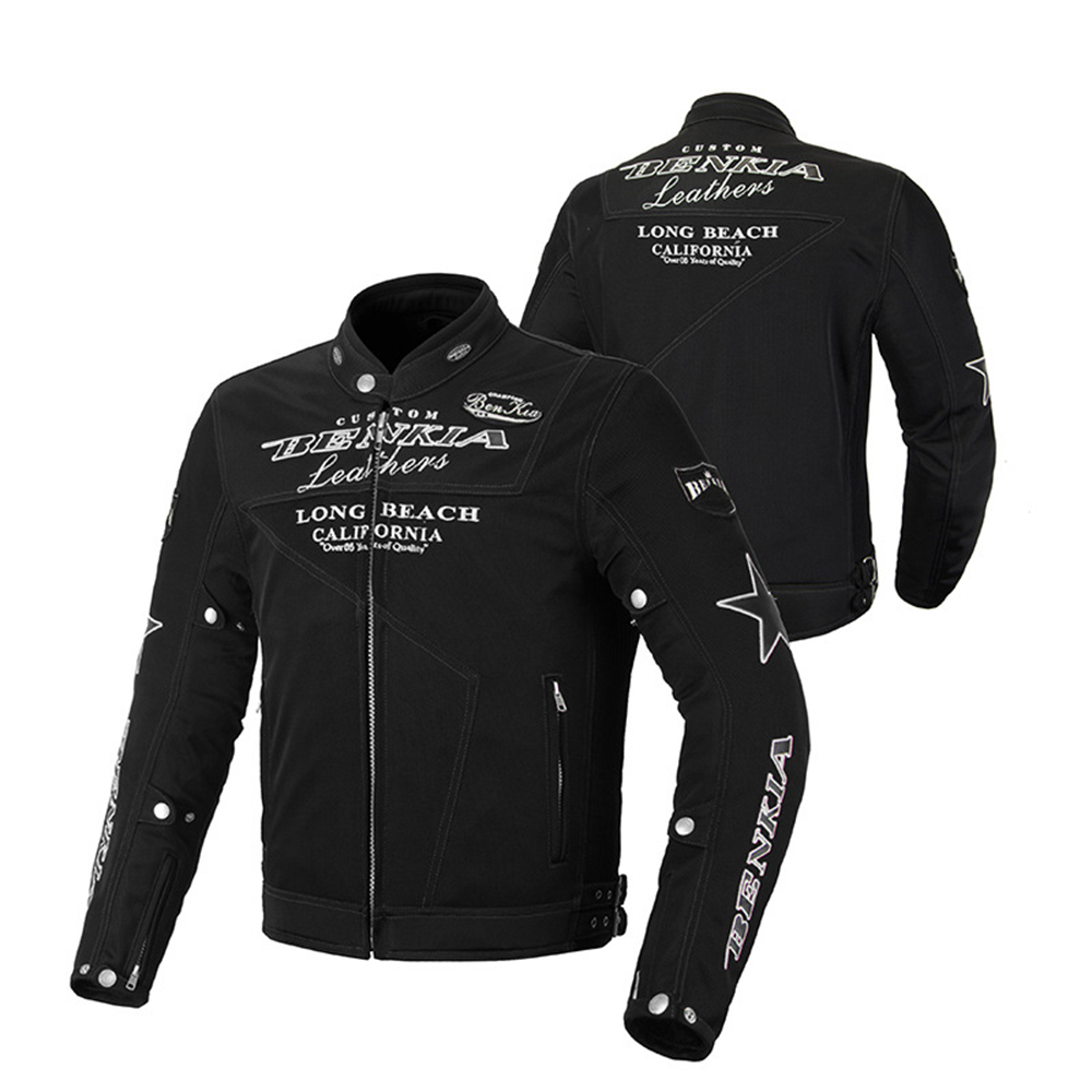BENKIA Breathable Jacket Motorcycle Men Motorcycle Jacket Motorbike Clothing Mesh Racing Riding Moto Jacket Protective Gear