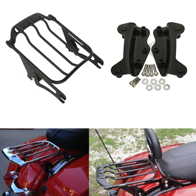 Motorcycle Air Wing Two Up Luggage Rack Docking Hardware For Harley Touring Electra Glide Road Glide