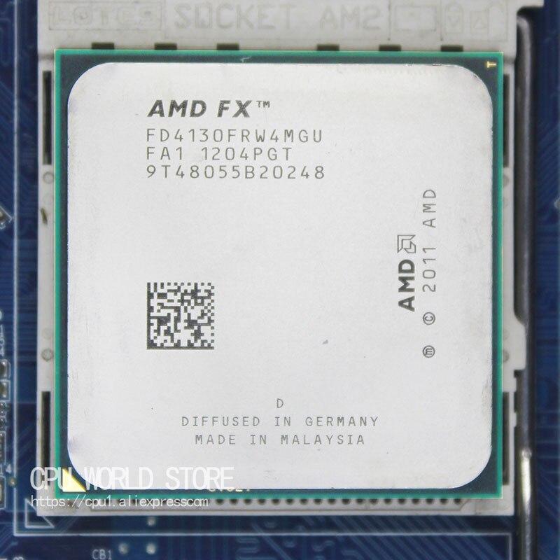 AMD FX 4130 AM3 + 3.8 GHz/4 MB/125 W Quad Core procesor CPU FX seryjny sztuk FX-4130 sprzedaży fx 4130 4200