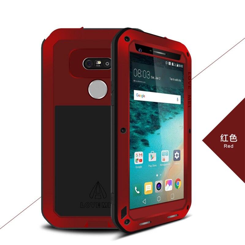 imágenes para Para LG Caso G5, Original Amor Mei Metal De Aluminio Caso de Gran Alcance Para LG G5 Chockproof Cajas Del Teléfono w/Vidrio templado