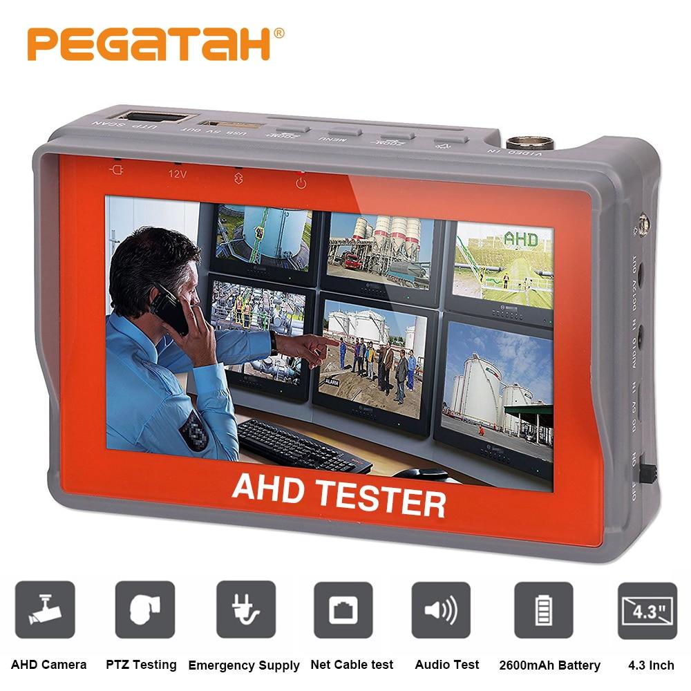 4.3 pouces AHD testeur 1080 P caméra analogique test 12V1A sortie PTZ UTP câble testeur vidéo Audio testeur AHD moniteur CCTV testeur