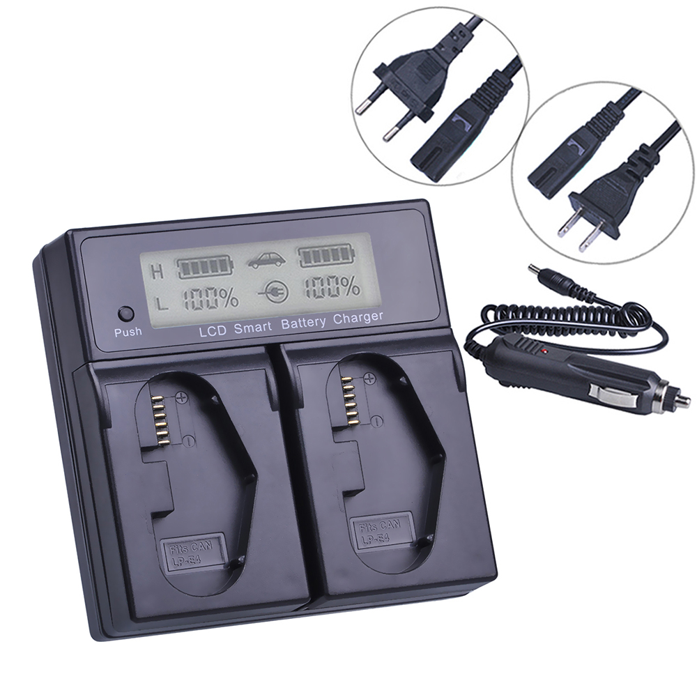 LCD Dual Smart Fast Charger for Canon LP E4 LPE4 LP E19 Canon EOS 1D C