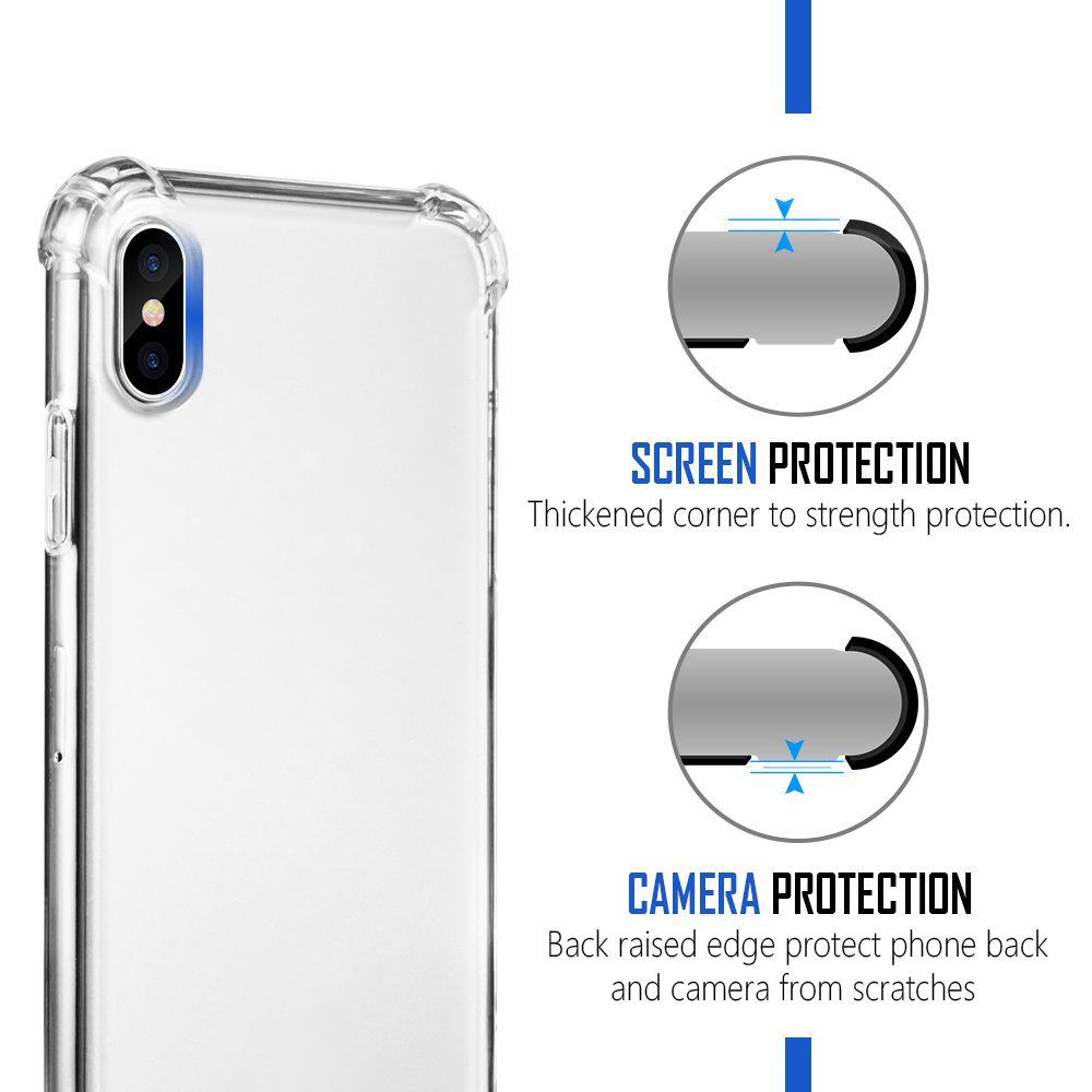 For iPhone X Case TPU Slim Protective Shockproof Cases Cover for Apple iPhone 10 8 (1)