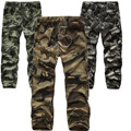 Mens Joggers  Pants 2017 Brand Male Cargo Pants Solid Slim Tights Camouflage Trousers Compression Men Jogger 38 IREUNM