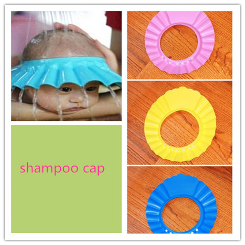 Thin section Baby Shower Cap New Adjustable Baby Kids Shampoo Bath Bathing Shower Cap Hat Wash A shampoo cap Hair image
