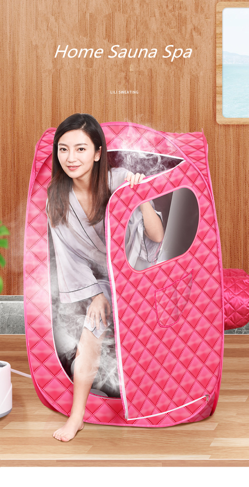Portable Steam Sauna Bath for Health and Beauty Spa at Home Lose Weight Detox Therapy Steam Fold Sauna Cabin 14