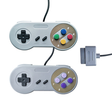 HAOBA Computer host controller for SNES system console wired game handle purple color two buttons