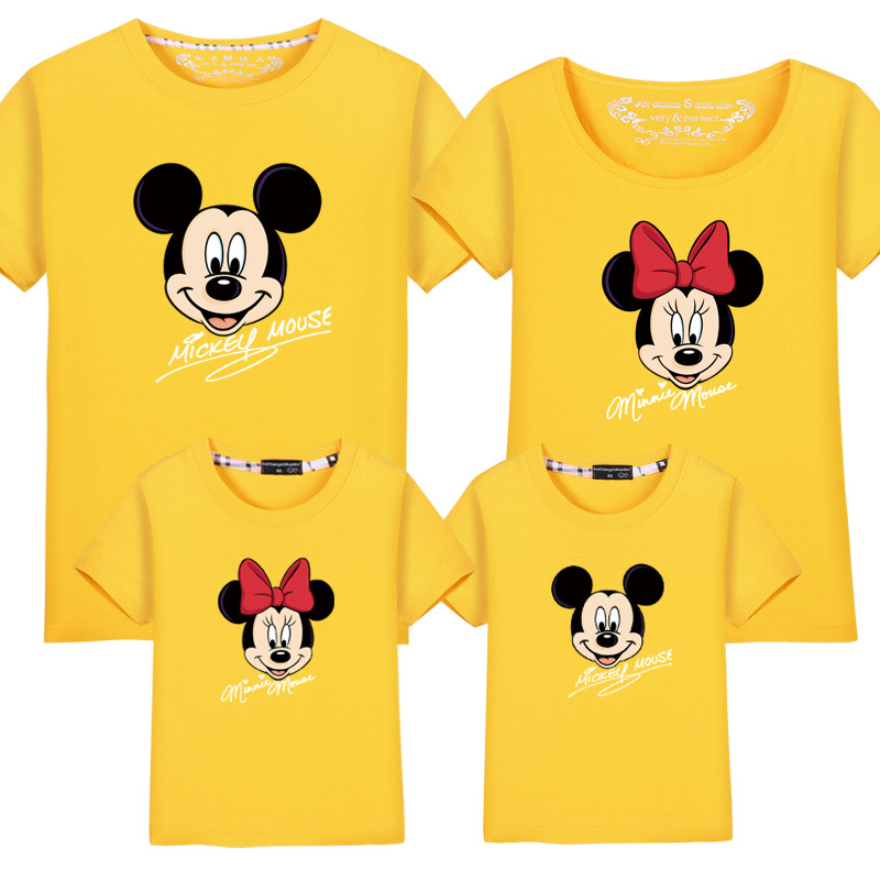 Mom Son Dad Daughter Prime Garments Finest Good friend Tshirt Cartoon Mickey Printed Informal TShirt Household Look Matching Household Outfits Matching Household Outfits, Low cost Matching Household Outfits, Mom...