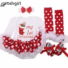 Для маленьких девочек Комплект одежды наряды для младенцев комплекты Bebes комбинезон с пачкой обувь платье/jumpersuit Рождество День рождения костюм vestidos 0-24 м