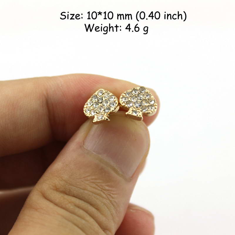 a65565e4be US $2.24 25% OFF|Gold Small Pave CZ Crystal Heart Earrings Studs Fashion  Famous Brand Kate New York Jewelry 2017 Valentine's day Gifts-in Stud ...