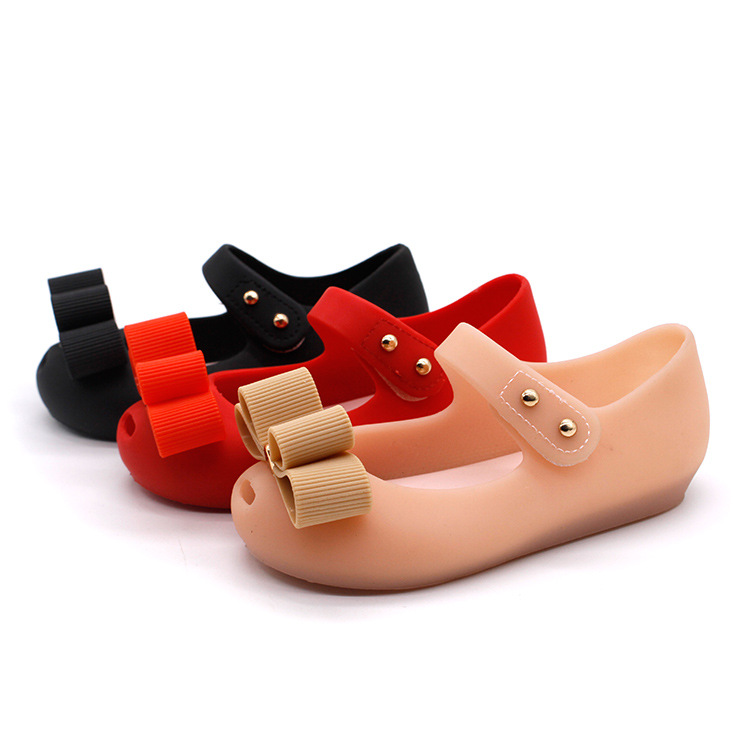 Mini Melissa 2018 New Mini Jelly Shoes Children Bow Fish Head Princess Shoes Soft And Comfortable Sandals 14-16.5cm Shoes