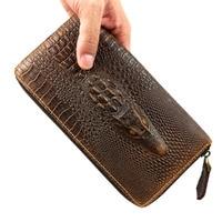 Крокодил Аллигатор Пояса из натуральной кожи новинка 2016 кожаный бумажник на молнии сумочка из воловьей кожи крокодила сумка Best подарок для