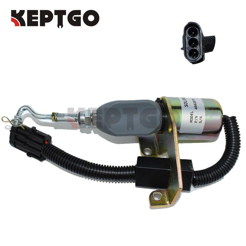 4942879, 24V, C5254169, SD-008A2, Fuel Shutdown Shutoff Solenoid 5295567 D59-002-01A 3924450 2001es 12 fuel shutdown solenoid valve for cummins hitachi