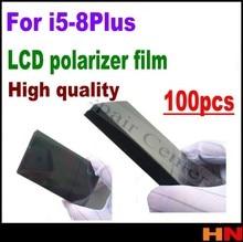 100 قطعة بالجملة lcd المستقطب فيلم آيفون 5 6 6s 7 8 plus LCD تصفية الاستقطاب فيلم المستقطب