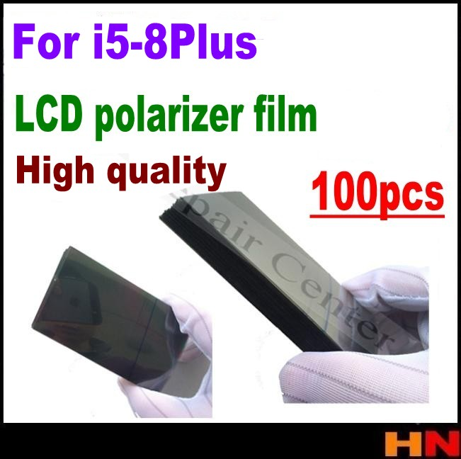 100pcs wholesale lcd polarizer film for iphone 5 6 6s 7 8 plus 