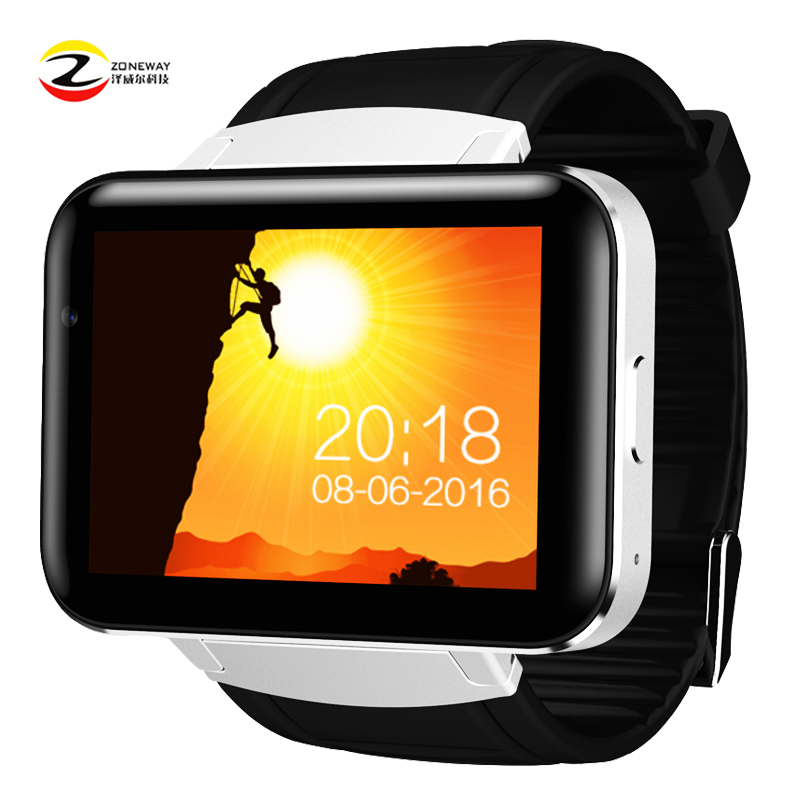 DM98 montre Smart watch MTK6572 Dual core 2.2 pouce HD IPS LCD Écran 900 mah Batterie 512 mb Ram 4 gb rom Android 4.4 OS 3g WCDMA GPS WIFI