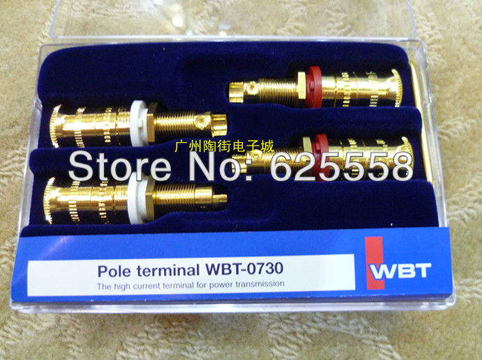 100% Original Pole terminal Hifi audio -0730.01 copper gold plated speaker terminal binding post connector