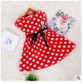 2015 New Arrival Summer Style Girl Dresses Cartoon Micky Print Baby Girl Dresses Vestidos Infantis Menina Clothes