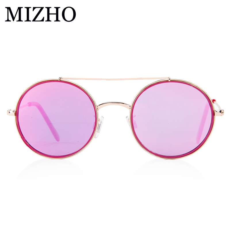 MIZHO 17G Copper Light Weight Superstar HD Kid Sunglasses Girl Polarized Round UV Protection Glasses Children Boys High Quality