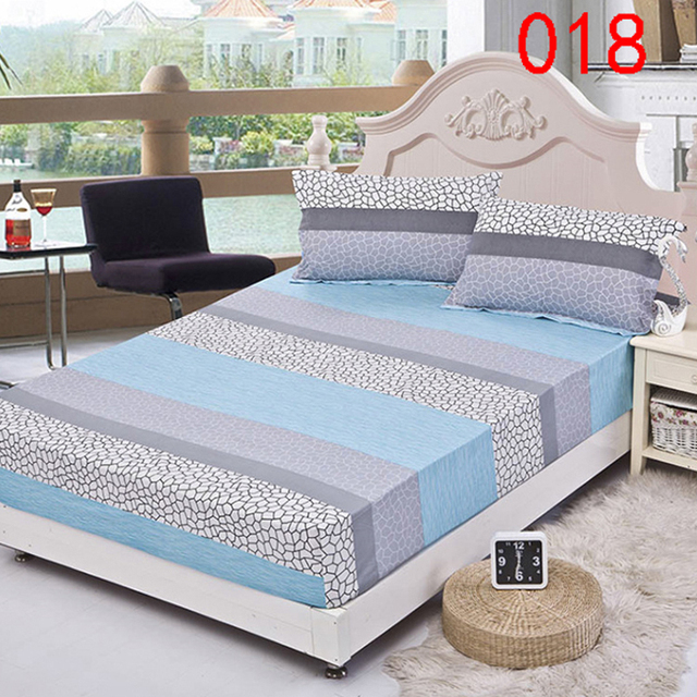Beau Water Cube Polyester Fitted Sheet Single Double Bed Sheets Fitted Cover  Twin Queen Mattress Cover Bedspread