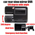 2 inch monitor both 120 degree wide angle Dual Lens Camcorder Car DVR HD With Rear View Camera car video recorder