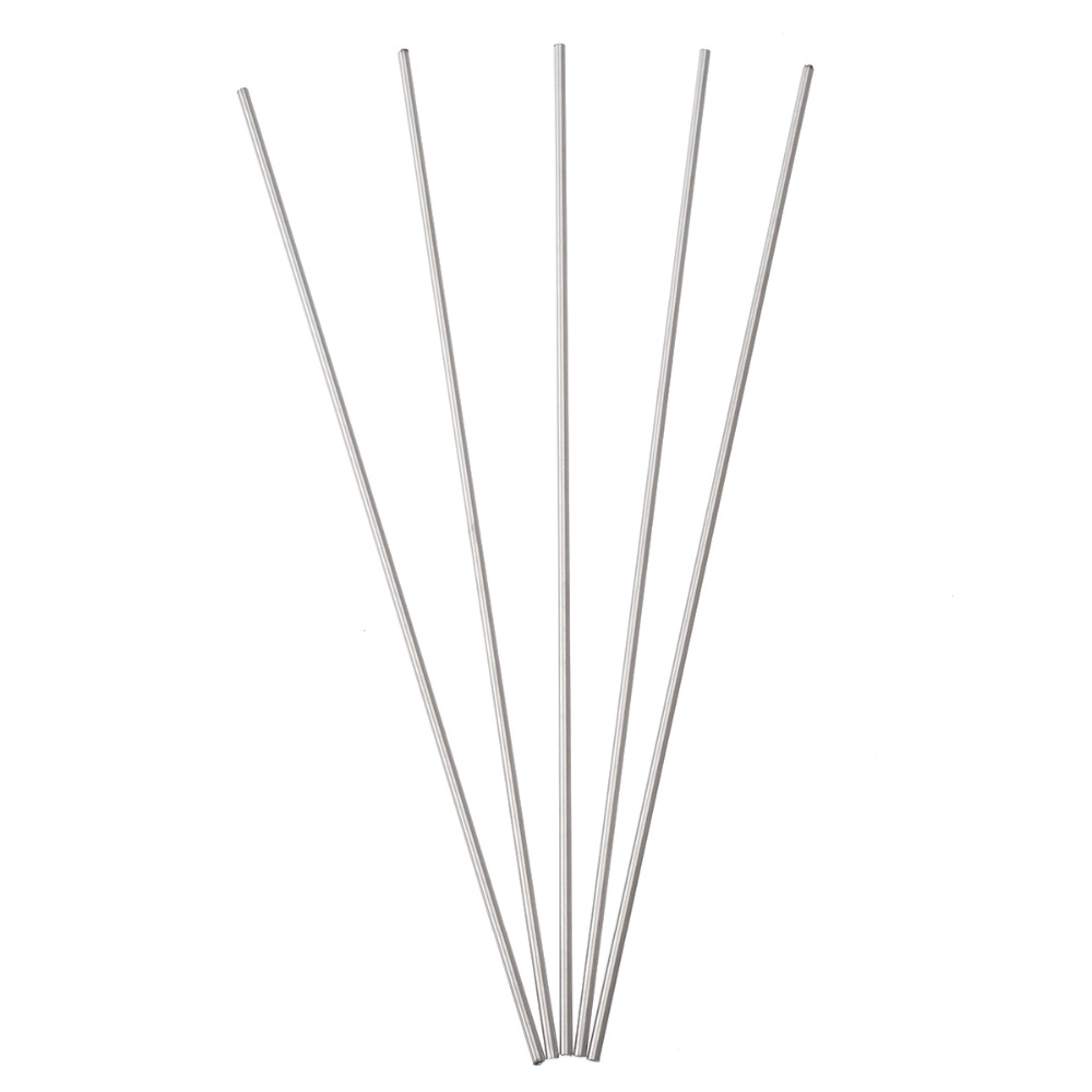5pcs Silver 304 Stainless Steel Capillary Tube 3mm OD 2mm ID 250mm Length For Chemical Industry Hardware