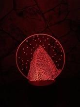 2017 Romantic Star Snow Mountain 3D USB LED Lamp Illusion Mood Art Novelty Lighting Girlfriend Christmas Gift Innovative Gadget