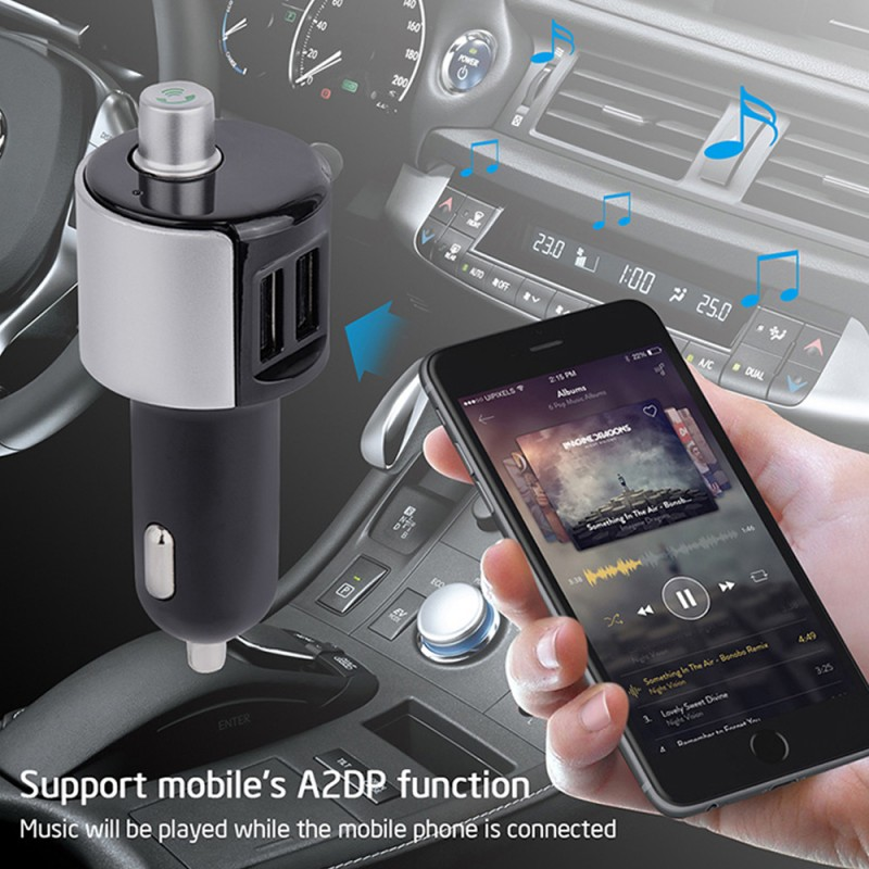 Bluetooth 4.0 Car MP3 Player FM Transmitter Wireless Radio Adapter USB Charger