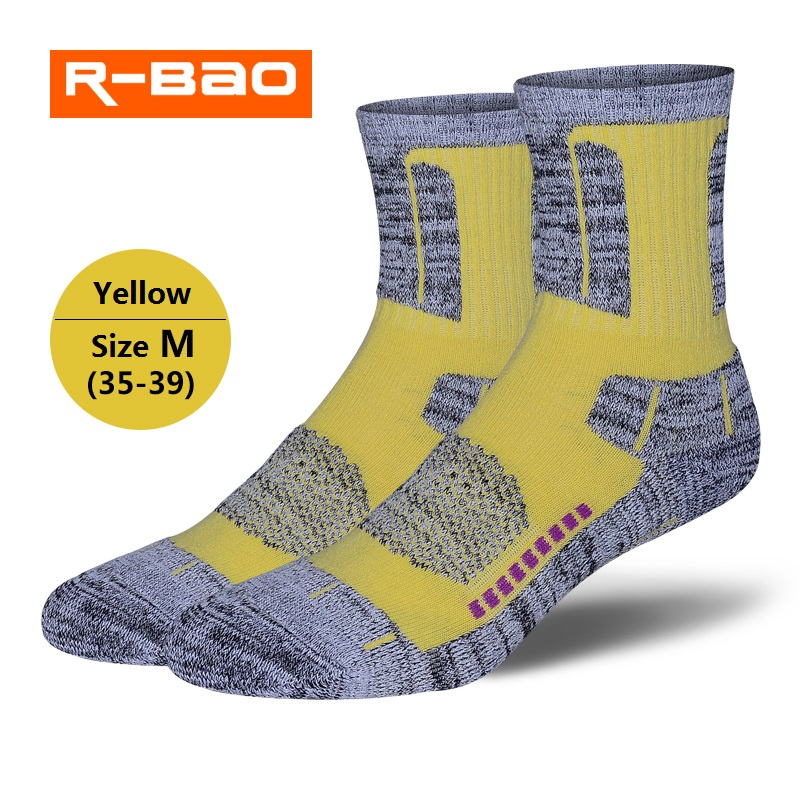 RB038B R-BAO Men/Women Outdoor Hiking/Skiing socks High-quality terry sports socks deodorization warm for winter 3pairs=1Lot