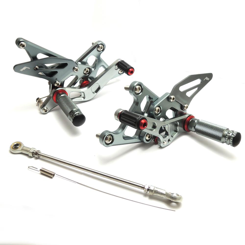 KEMiMOTO Motorcycle Accessories CNC Parts For Honda CBR250R CBR 250R 2011 2012 2013 Adjustable Rear set