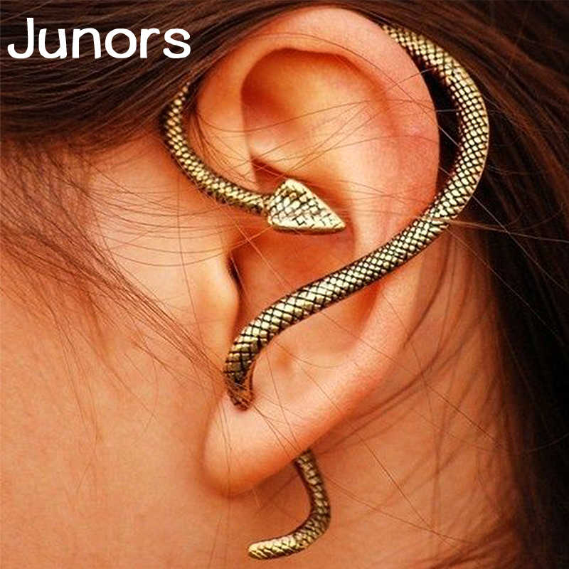 Gothic Punk Miraculous Snake Big Tortoiseshell Earrings For Women Gold Stud Eyes Ladies Earrings Female Stud Fashion Jewelry
