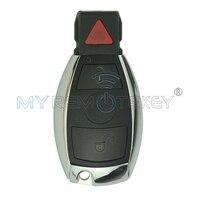 Smart Ключи Автозапуск Бланк В виде ракушки чехол 2 кнопки с паникой для Mercedes Benz Ключи remtekey